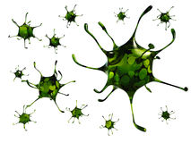 Deadly virus. Very dangerous and deadly pathogenic virus Stock Images