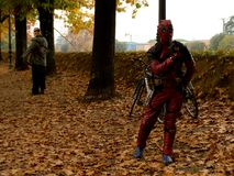 Deadpool at Lucca Comics and Games 2017. The merc witha  mouth, Deadpool cosplayer during the Lucca Comics and Games 2014 festival Royalty Free Stock Photography