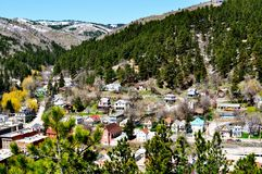 Deadwood Aerial View. Deadwood, South Dakota Aerial View Royalty Free Stock Photography