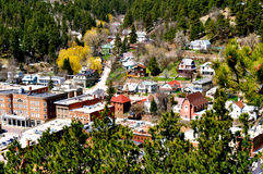 Deadwood - City View. From Mount Moriah Royalty Free Stock Image