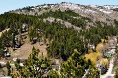 Deadwood hills and buildings. South Dakota Stock Image