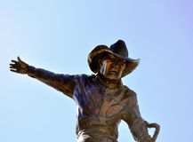 Deadwood rodeo rider statue Royalty Free Stock Photography