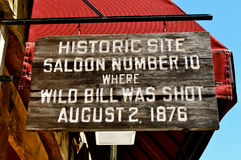 Deadwood Saloon 10 sign stock photos