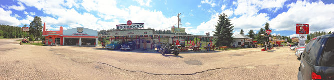 Deadwood, South Dakota. July 2. 2014. Boondocks 1950's Theme Park and Diner Stock Photo