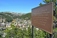 Deadwood South Dakota. With introductory sign Stock Photography