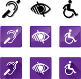 Deaf, Blind, Disabled Symbols Royalty Free Stock Photography