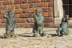 Deaf blind and mute dwarfs in Wroclaw Royalty Free Stock Images