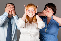 Deaf dumb blind Stock Photography