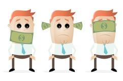Deaf dumb blind businessmen with dollar bank notes Stock Images