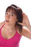 Deaf girl Royalty Free Stock Images