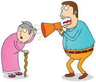 Deaf grandma Royalty Free Stock Image