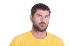 Deaf hearing impaired man Stock Photos