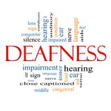 Deafness Word Cloud Concept Royalty Free Stock Photo