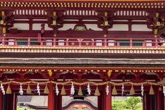 Deail da fachada do santuário de Dazaifu Tenmangu em Fuguoka, Japão Fotos de Stock