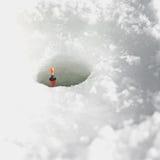Deail da pesca do gelo Imagem de Stock Royalty Free