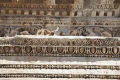 Deail do templo de Hadrian, Ephesus Foto de Stock