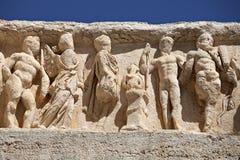 deail ephesus hadrian寺庙 免版税库存图片