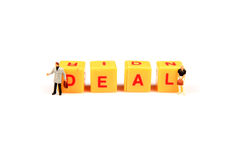 Deal. Concept image of deal on white background Royalty Free Stock Image