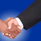Deal. Businessmen shaking hands with clipping path Stock Photography