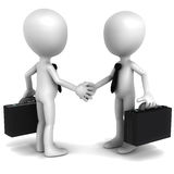 Deal agreement. Business deal, two business men shaking hands over white background, concept of deal or agreement in business Stock Image
