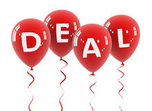 Deal balloon concept 3d illustration Stock Photography