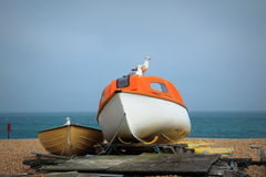 Deal beach boat Kent UK Stock Photos