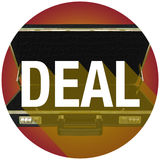 Deal Briefcase Word Long Shadow Contract Customer Circle Royalty Free Stock Images
