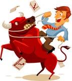 Deal with Bullish Market. Detailed Vector Illustration Royalty Free Stock Photo