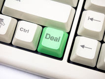 Deal button Stock Image