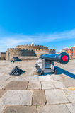 Deal Castle. An old artillery cannon at the Deal Castle in Deal, Kent, England, UK Stock Images