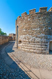 Deal Castle. Stone walls of the Deal Castle in Deal, Kent, England, UK Stock Image