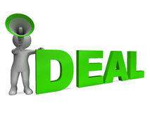 Deal Character Shows Deals Agreement Contract Or Dealing Stock Images