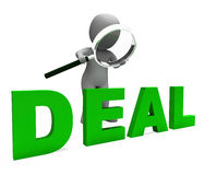 Deal Character Shows Deals Trade Contract Royalty Free Stock Photos