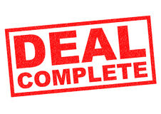DEAL COMPLETE Stock Images