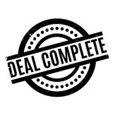Deal Complete rubber stamp Stock Image