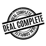 Deal Complete rubber stamp Stock Photography