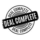 Deal Complete rubber stamp Royalty Free Stock Photos