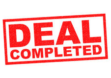 DEAL COMPLETED Royalty Free Stock Photos