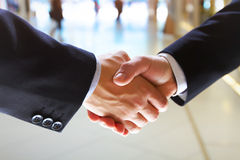 Deal. Concept, real photo of handshake Stock Images