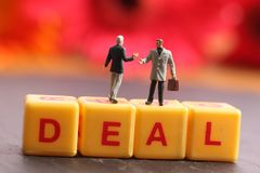 Deal. Concept shot of deal with beautiful background royalty free stock image