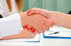 The deal. A confident handshake after a successful business Stock Images