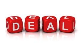 Deal cubes concept  3d illustration Stock Images