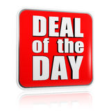 Deal of the day - red banner Stock Photos
