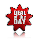 Deal of the day in red star Royalty Free Stock Photography