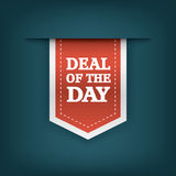 Deal of the day vertical ribbon bookmark tag Royalty Free Stock Images