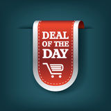 Deal of the day vertical ribbon bookmark tag. Element for sales promotion. Eps10 vector illustration royalty free illustration
