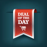Deal of the day vertical ribbon bookmark tag Stock Photos
