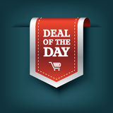 Deal of the day vertical ribbon bookmark tag Stock Image