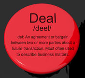 Deal Definition Button Royalty Free Stock Images