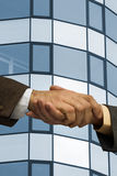 Deal is done. Two businessmen handshaking ,made from my images Stock Images
